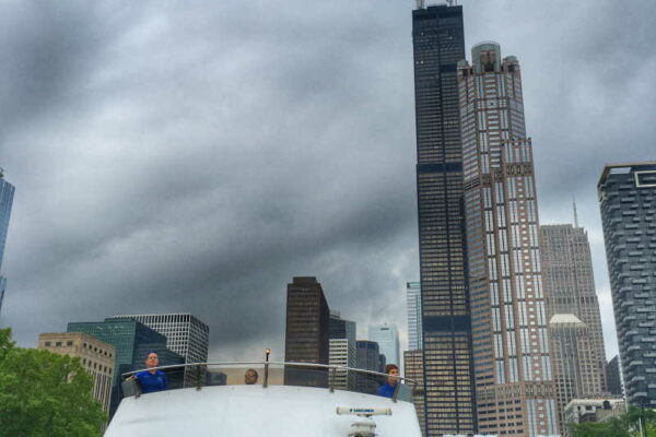 boat and willis tower